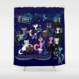 Mambo Kitties Shower Curtain