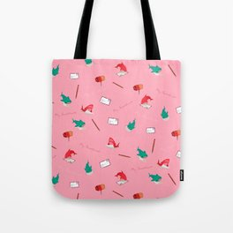 Pink Shark and Whale Shark Tote Bag