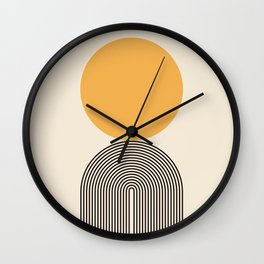 Abstraction_NEW_SUNLIGHT_YELLOW_POP_ART_Minimalism_001Y Wall Clock