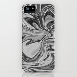 Marmalade Marble - Black and White iPhone Case