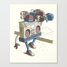 Human Boombox Canvas Print