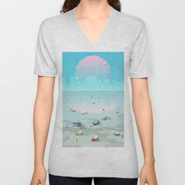Between two waters Unisex V-Neck
