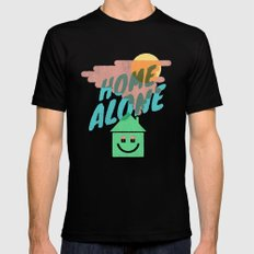 Home Alone MEDIUM Black Mens Fitted Tee