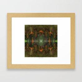 Ayahuasca + Google AI Framed Art Print