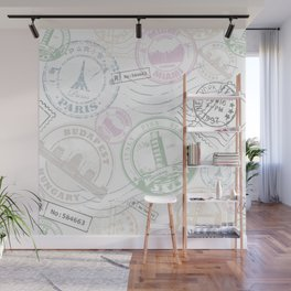 Stamp Travel Wall Mural