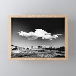 Black Sky Desert Landscape // Red Rock Canyon Las Vegas Nevada Mojave Mountain Range Framed Mini Art Print