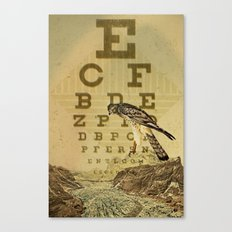 eye chart I Canvas Print