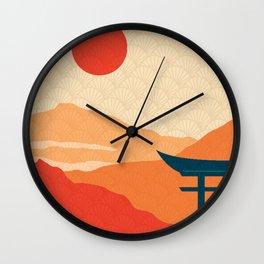 Japanese Abstract Art XVI Wall Clock