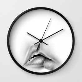 Kiss Drawing | Black and White | Love | Valentine's Day Wall Clock