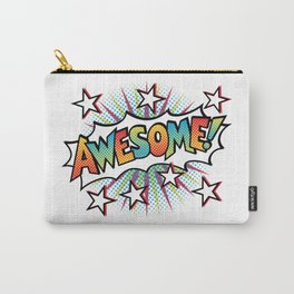 Pop Art Awesome! Text Design Carry-All Pouch