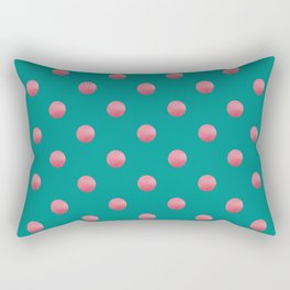 PREPPY teal green background with bubblegum pink polka dots Rectangular Pillow