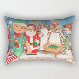 Christmas Dolls Rectangular Pillow