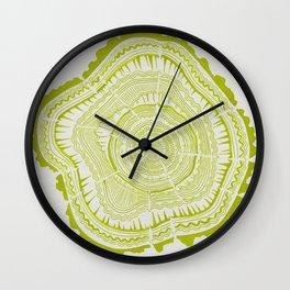 Lime Tree Rings Wall Clock