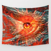 "cyclops Wall Tapestries featuring "" the Cyclops' eye ""  by shiva camille"