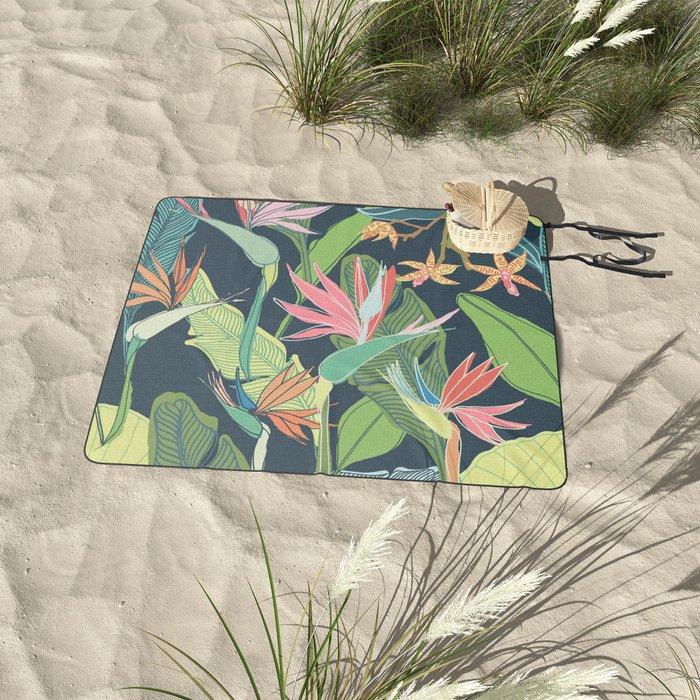 Tropical Bird of Paradise Picnic Blanket