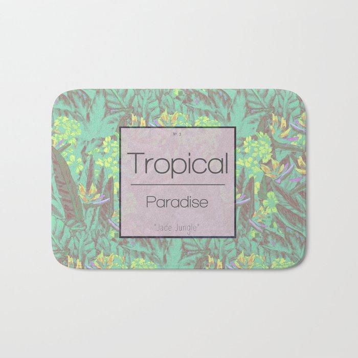 Tropical Paradise: Jade Jungle Bath Mat