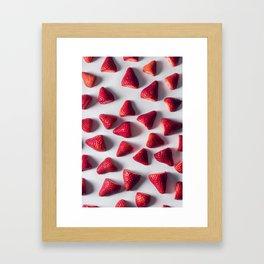 Strawberries aren't berries? Framed Art Print