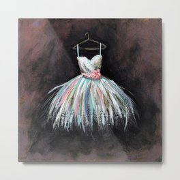 Ballerina Dress 3 - Painting Metal Print