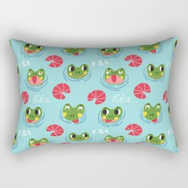Have a froggy day! Rectangular Pillow