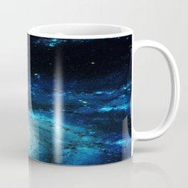 Teal Pinwheel Galaxy Coffee Mug