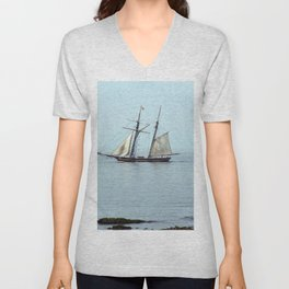 Tall ship Sails by Unisex V-Neck