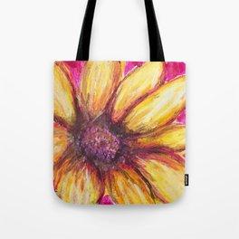 Cheery Yellow Flower Tote Bag
