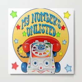 Unlisted Number Metal Print