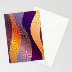 Boho Wave Pattern Stationery Cards