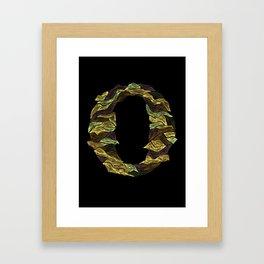 Letter O Framed Art Print