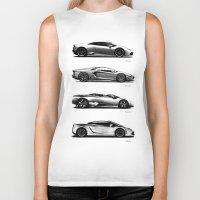 lamborghini Biker Tanks featuring The Lamborghini Collection by Mark Rogan