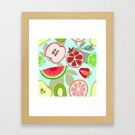 cut fruit Framed Art Print