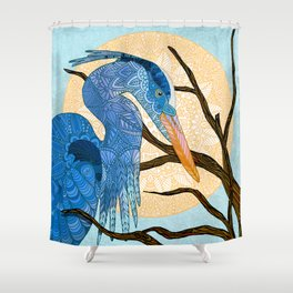 Egret Sun Shower Curtain