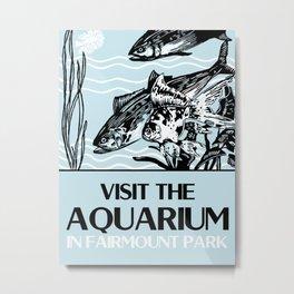 Visit the Aquarium Metal Print