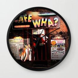 Cafe Wha Wall Clock