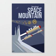Minimalist Magic-Space Mountain Canvas Print
