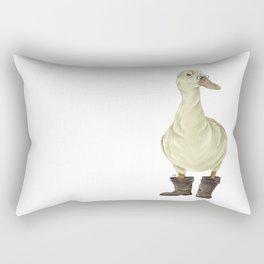 duck in boots  Rectangular Pillow