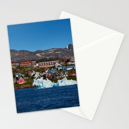 Nuuk from the seaside Stationery Cards