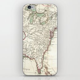 Thirteen Colonies Vintage Map (1776) iPhone Skin