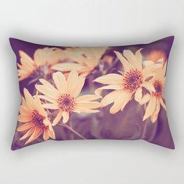 Gold Floral Rectangular Pillow