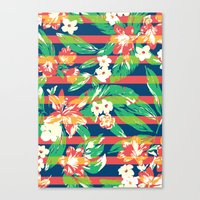 tropical Canvas Prints featuring Tropical by Steven Toang