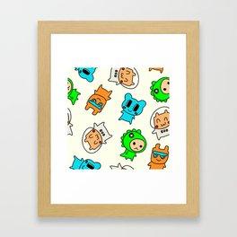 Kawaii Kumas Framed Art Print