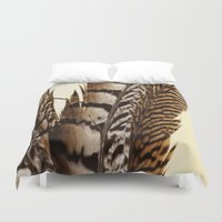 into the wild Duvet Covers featuring Wild by Charlene McCoy