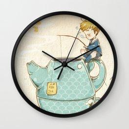 Tea Fishing Wall Clock