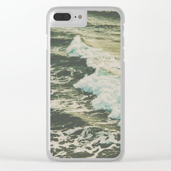 Marble Ocean Crush Clear iPhone Case