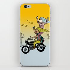 On the freedom experienced by Desert Bike Harpies.   iPhone & iPod Skin