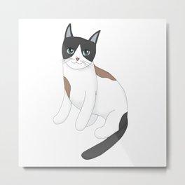 Stylish Cat Metal Print