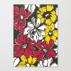 Fleur With Yellow Canvas Print