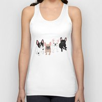 frenchie Tank Tops featuring Frenchie by Tomoko K