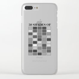 50 Shades Clear iPhone Case