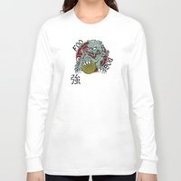 foo fighters Long Sleeve T-shirts featuring Foo Dog by Buby87